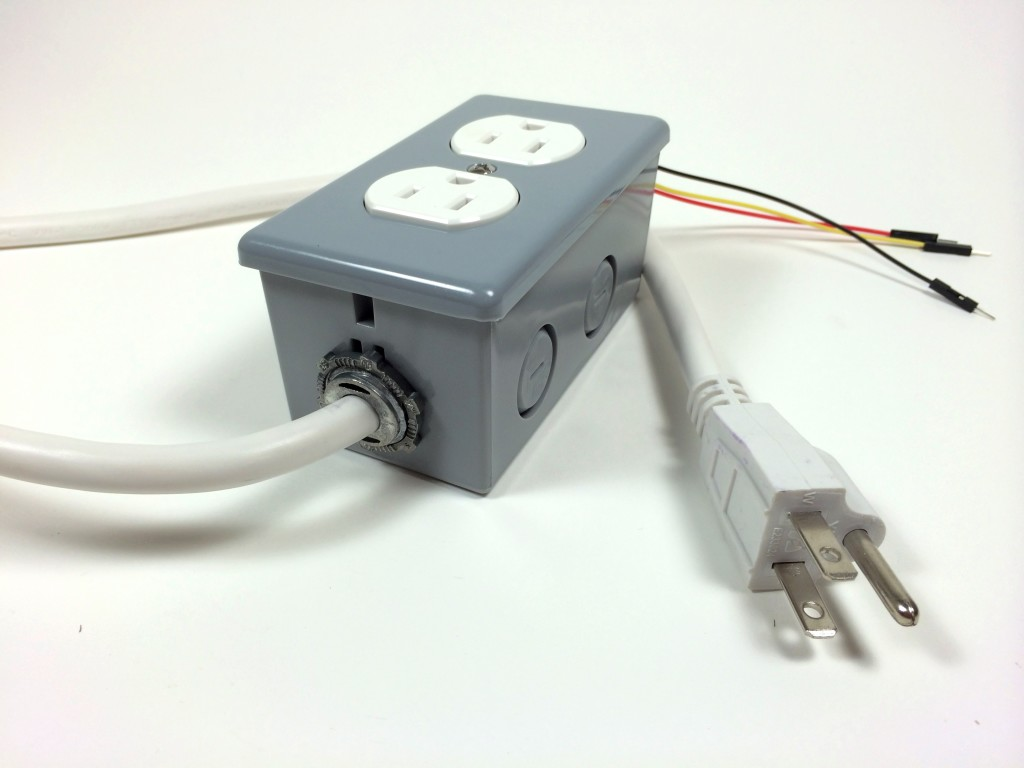 hight resolution of build an arduino controlled power outlet the completed electrical outlet box