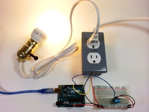 small resolution of build an arduino controlled power outlet dht11 humidity and temperature sensor controlling a light bulb