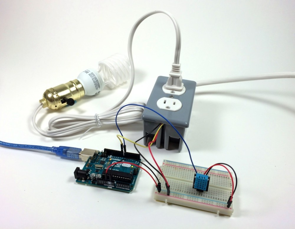 medium resolution of build an arduino controlled power outlet dht11 humidity and temperature sensor controlling a light bulb
