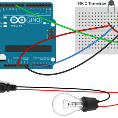 Thermistor Relay Wiring Diagram Three Phase Electrical How To Set Up A 5v On The Arduino Circuit Basics