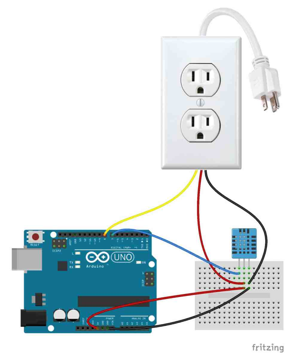 medium resolution of follow this diagram to make the connections arduino controlled power outlet