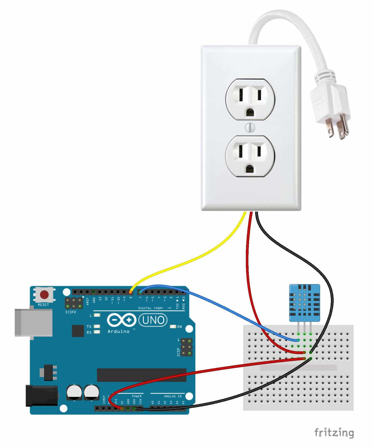 hight resolution of follow this diagram to make the connections arduino controlled power outlet