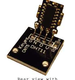 the dht11 uses just one signal wire to transmit data to the arduino power comes from separate 5v and ground wires a 10k ohm pull up resistor is needed  [ 1076 x 1332 Pixel ]