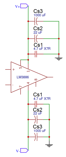 How to Design a Hi-Fi Audio Amplifier With an LM3886 - Power Supply Decoupling Capacitors