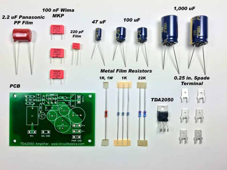 Complete TDA2050 Amplifier Design and Construction - Unassembled Amp