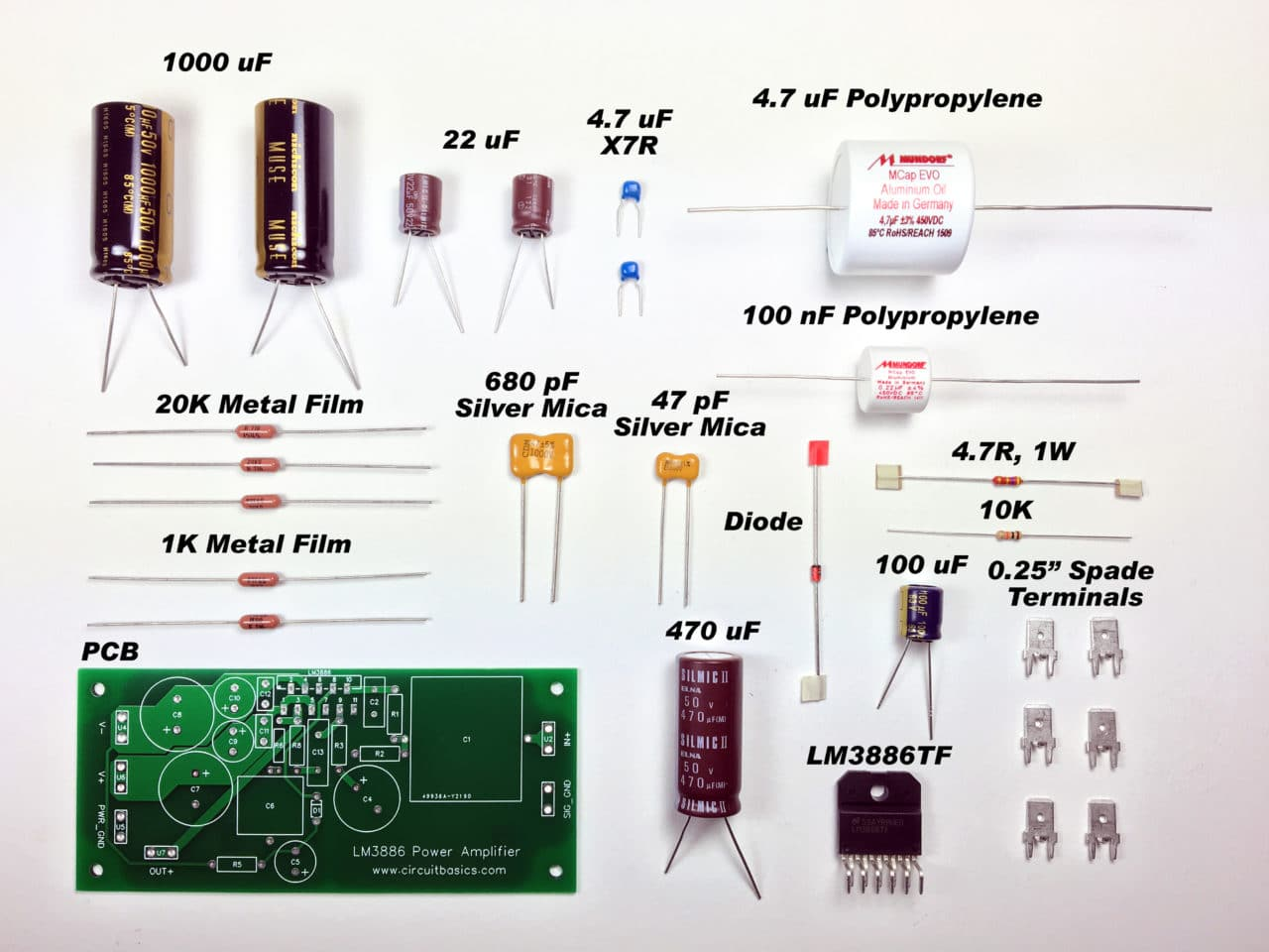 parts of a speaker diagram 1998 ford mustang ac wiring complete guide to design and build hi fi lm3886