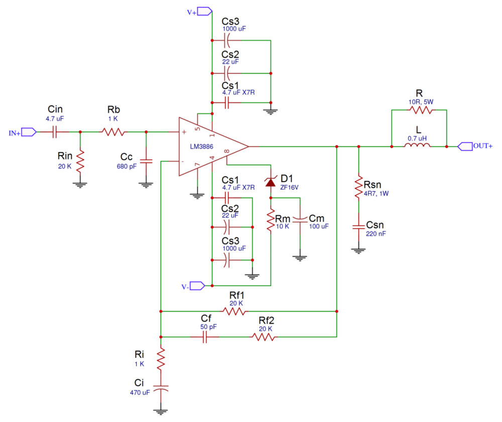 medium resolution of a complete guide to design and build a hi fi lm3886 amplifier galaxy audio booster schematic diagram