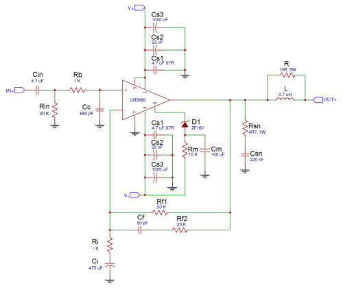 small resolution of a complete guide to design and build a hi fi lm3886 amplifier galaxy audio booster schematic diagram