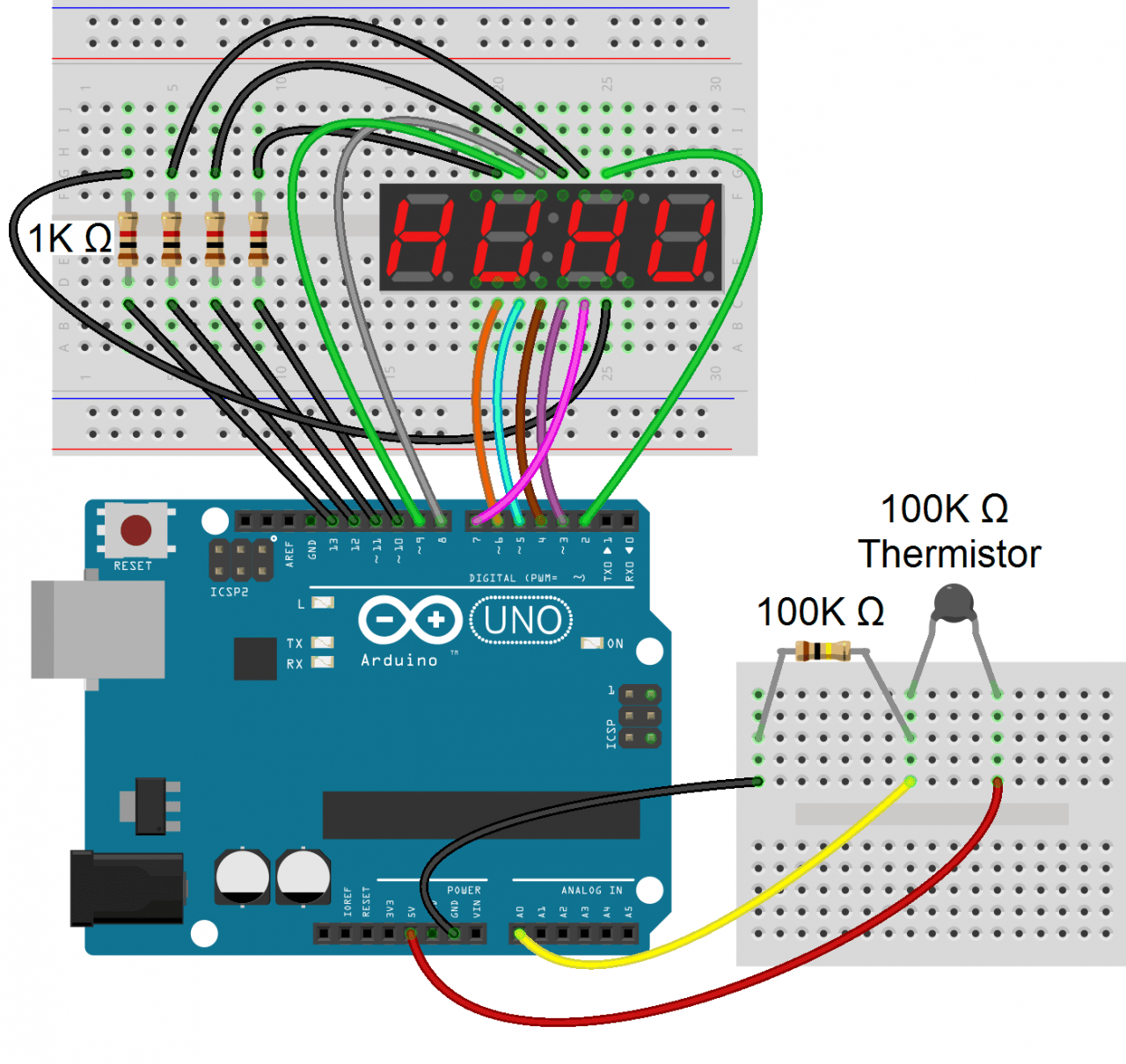 hight resolution of connect the circuit like this arduino 7 segment