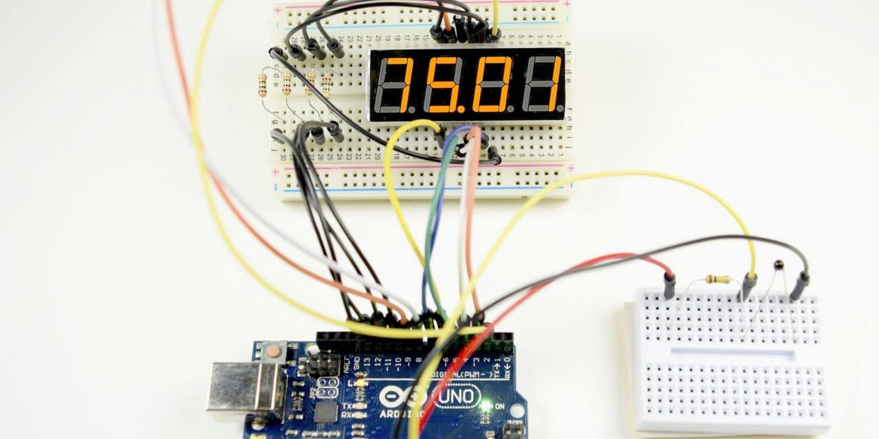 digital temperature controller circuit diagram pto indicator switch how to set up 7 segment displays on the arduino basics
