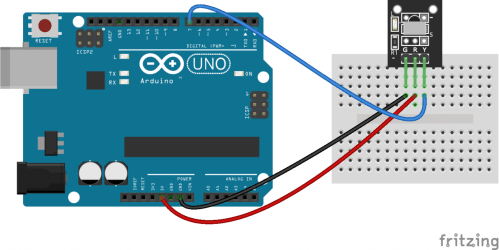 small resolution of to connect a breakout board mounted ir receiver hook it up to the arduino like this