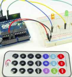 how to set up an ir remote and receiver on an arduino [ 1280 x 640 Pixel ]