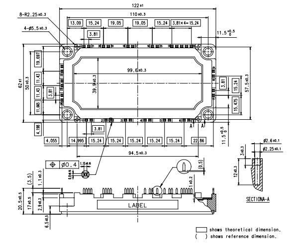 1200V 75A PIM Mosfet Power Module IC 7MBR75UB120-50 IGBT