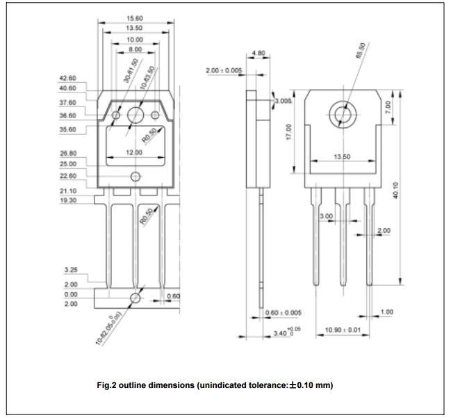 Silicon High voltage general purpose npn transistor Built