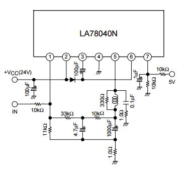 LA78040 IC Integrated Circuit Chip TV and CRT Display