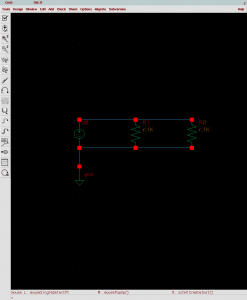 Example when you're done adding a resistor