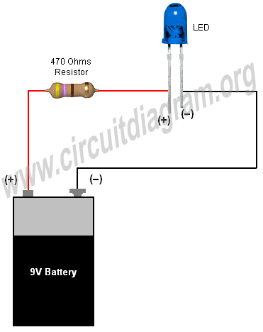 simple basic led circuit  circuit diagram
