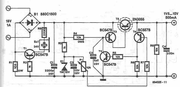 Sursa de tensiune reglabila 1.5 15 volti 500mA