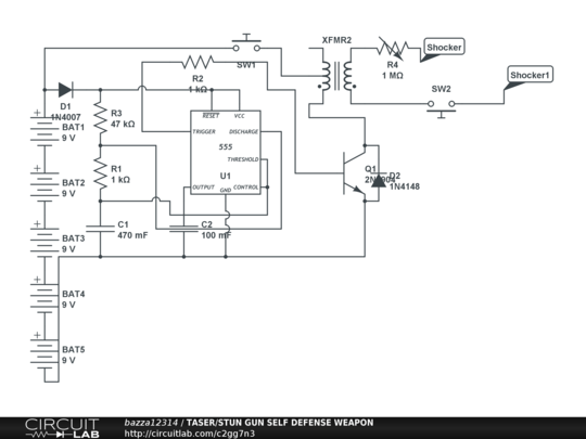 circuitlab taser stun gun self defense weapon