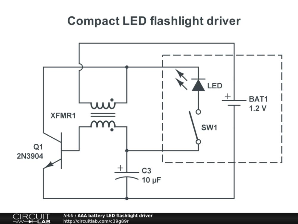 medium resolution of aaa battery led flashlight driver public