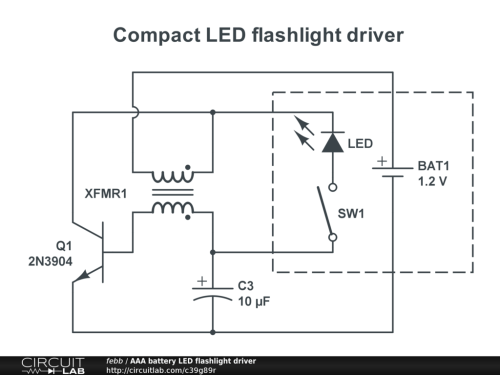 small resolution of aaa battery led flashlight driver public