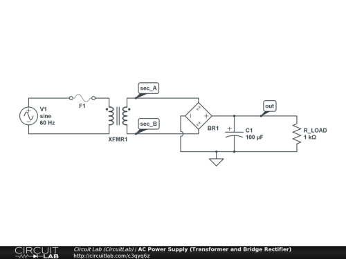 small resolution of ac power supply transformer and bridge rectifier public