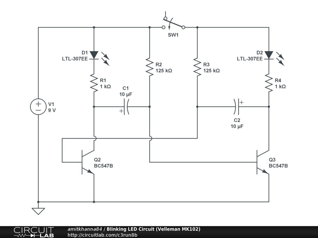 hight resolution of blinking led circuit velleman mk102 public