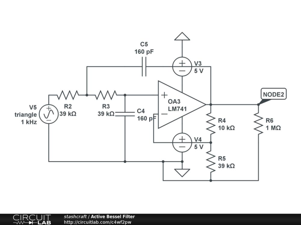 medium resolution of active bessel filter public