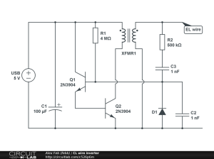 Diy El Wire Inverter Schematic  DIY Unixcode