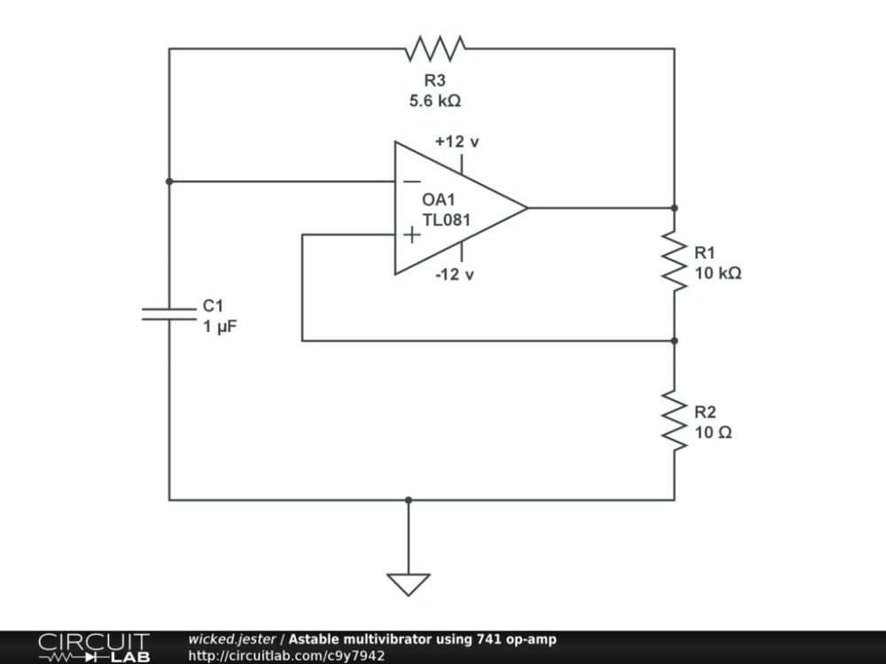 medium resolution of astable multivibrator using 741 op amp public