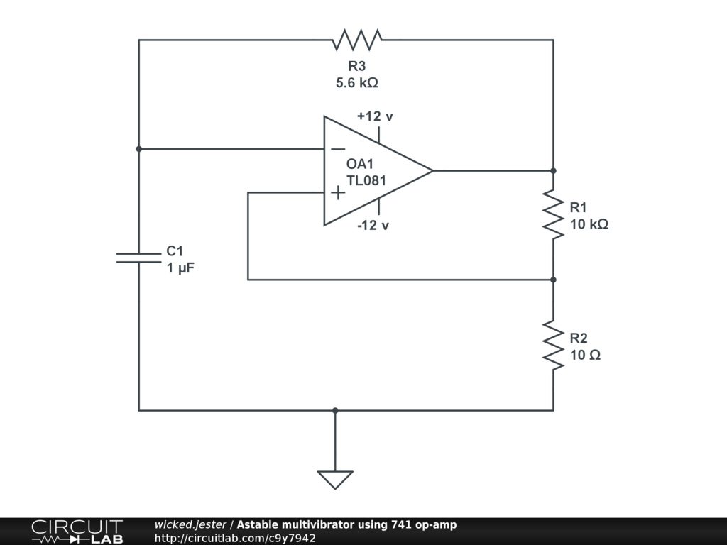 hight resolution of astable multivibrator using 741 op amp public
