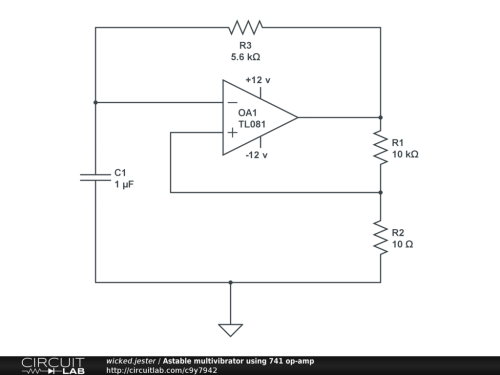 small resolution of astable multivibrator using 741 op amp public
