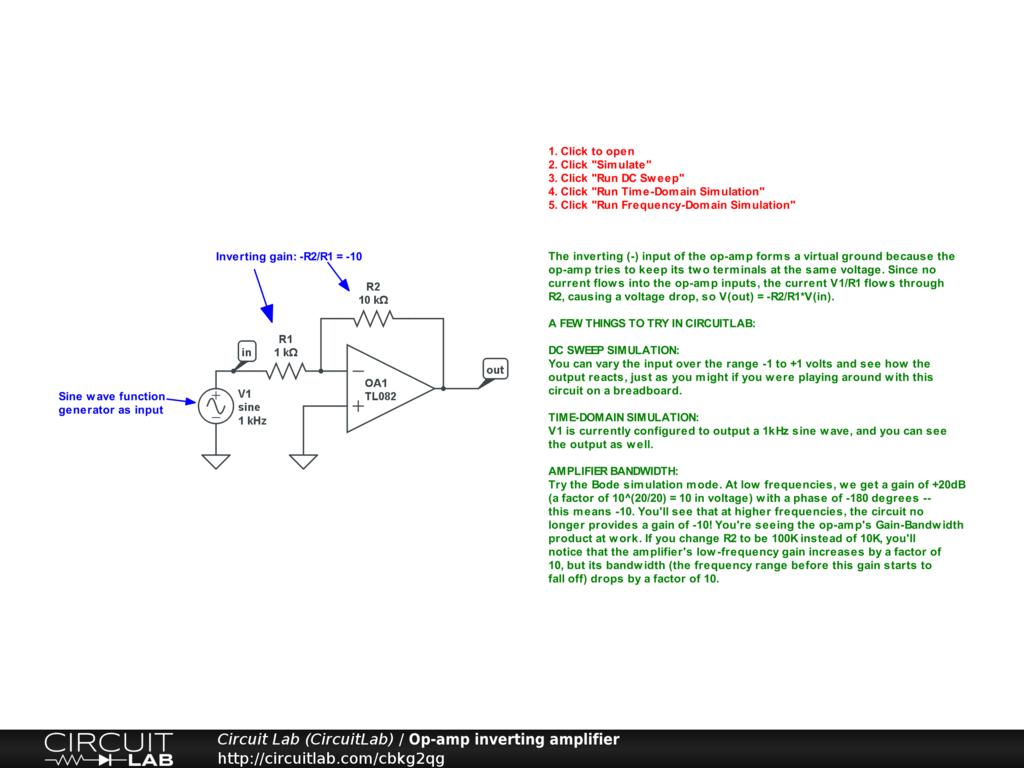 Op Amp Inverter Circuit