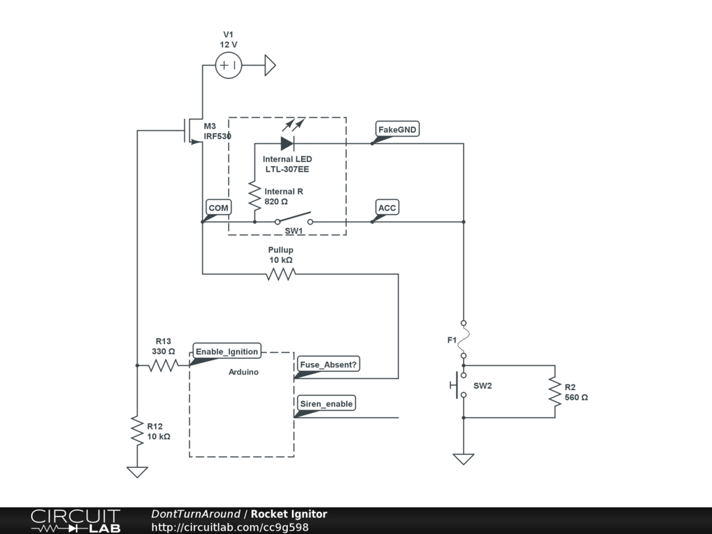 hight resolution of model rocket igniter circuit