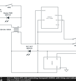 ranco etc 24v controling honeywell sv9501 with estop and indicator oil furnace thermostat wiring diagram ranco wiring diagrams [ 1024 x 768 Pixel ]