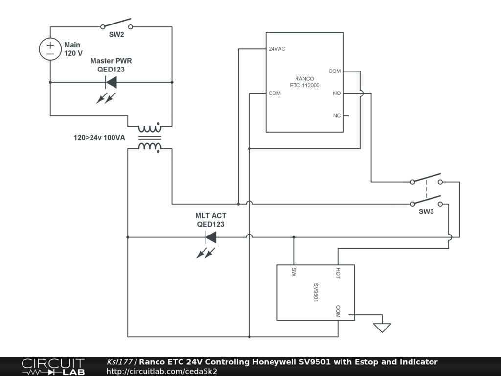 hight resolution of ranco etc 24v controling honeywell sv9501 with estop and indicator oil furnace thermostat wiring diagram ranco wiring diagrams