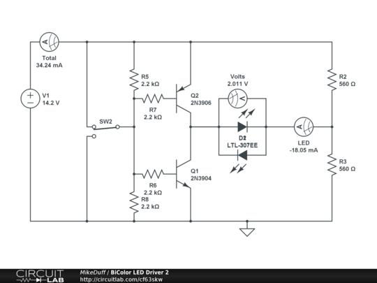 driving a bicolour led circuit ledandlightcircuit circuit