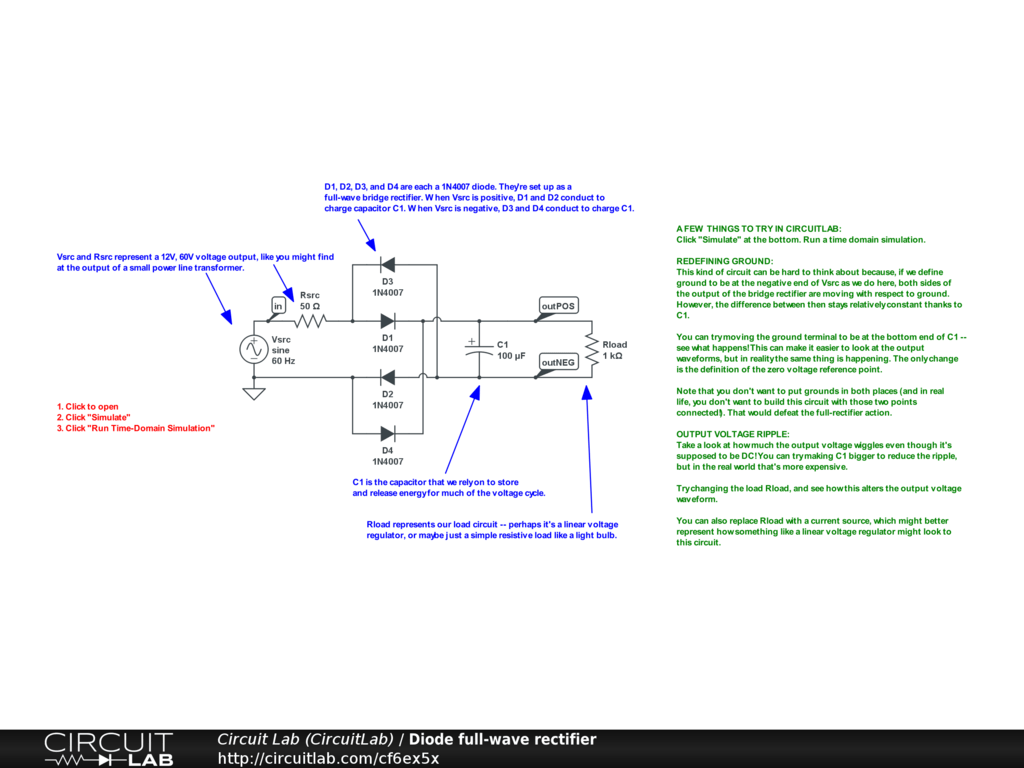 hight resolution of diode full wave rectifier public