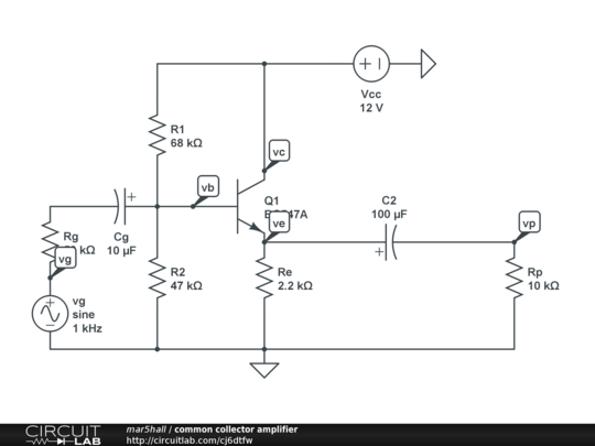 commonemitter amplifier circuit simulator