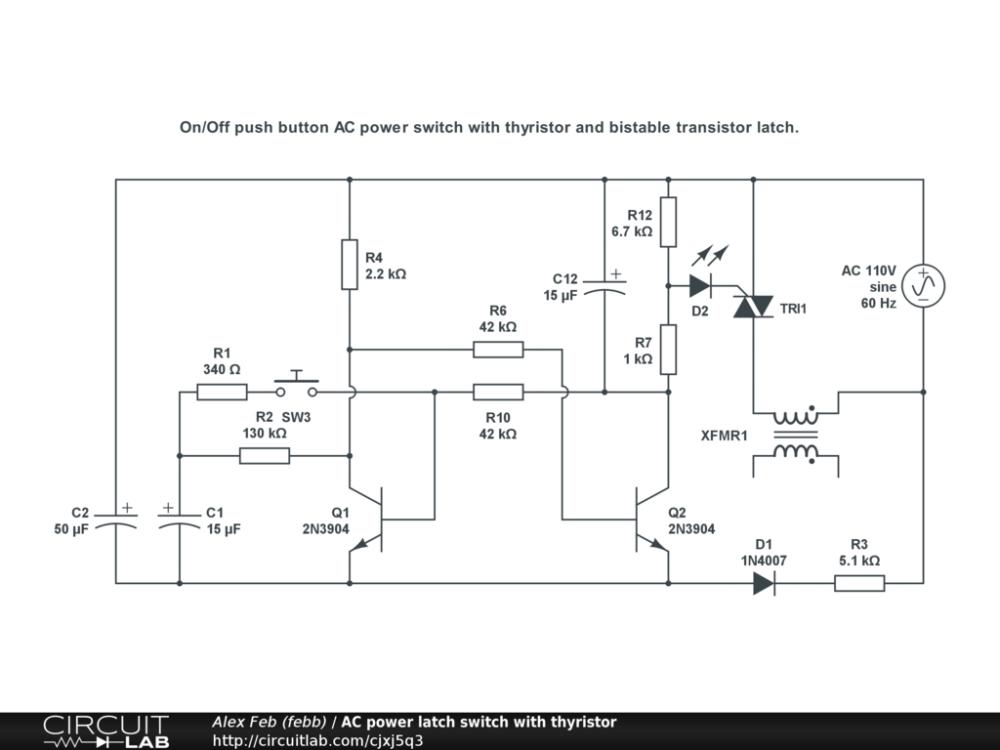medium resolution of ac power latch switch with thyristor public
