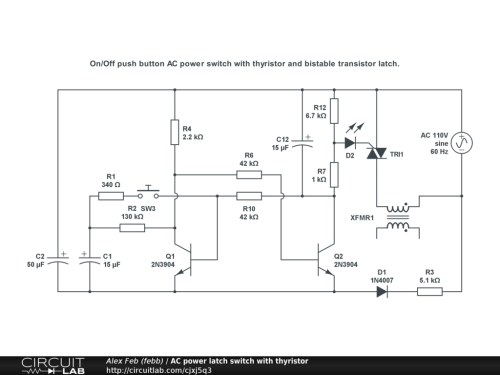 small resolution of ac power latch switch with thyristor public