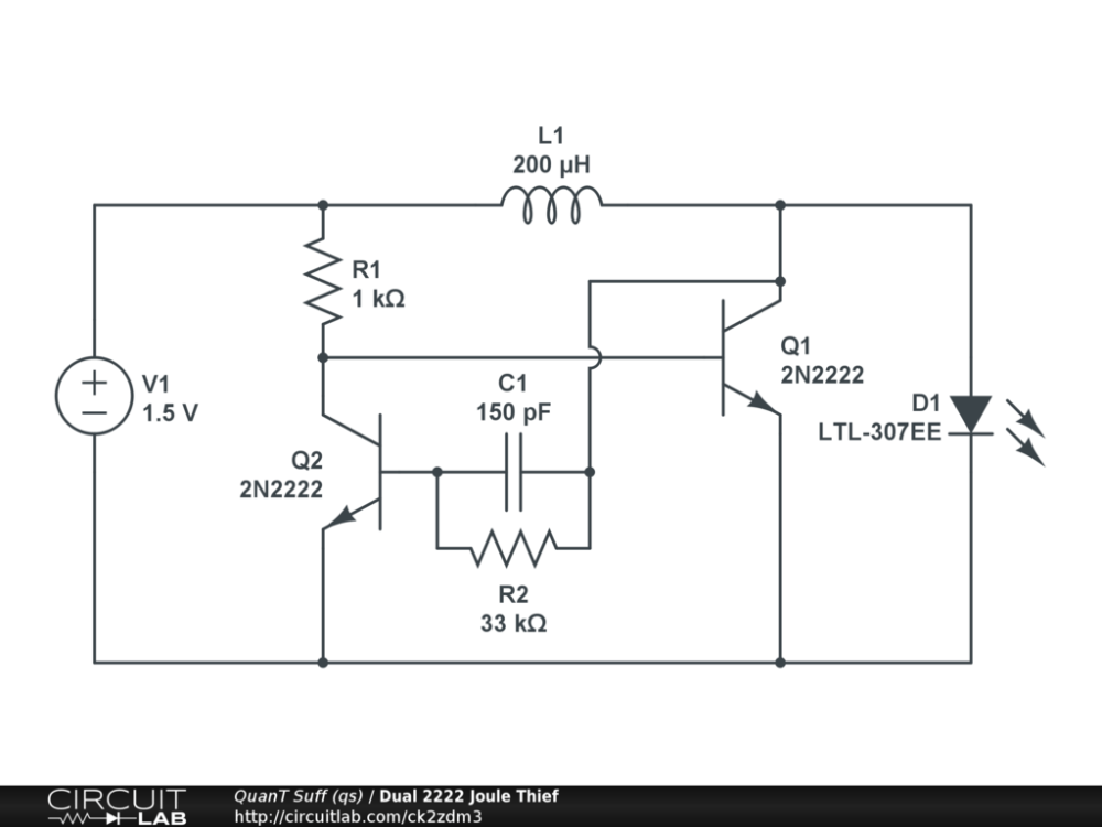 medium resolution of dual 2222 joule thief