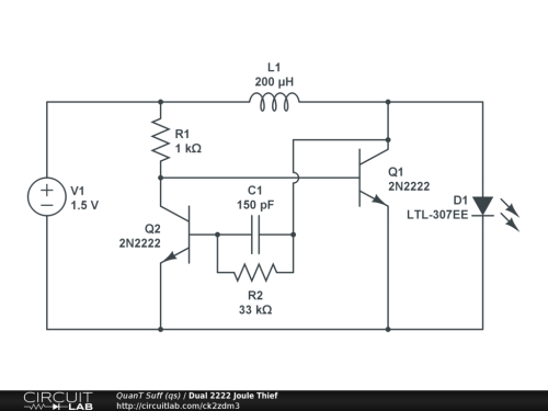small resolution of dual 2222 joule thief