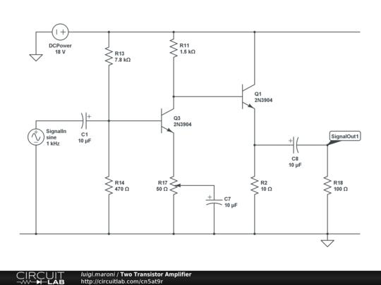 Transistor In Amplifier Circuit
