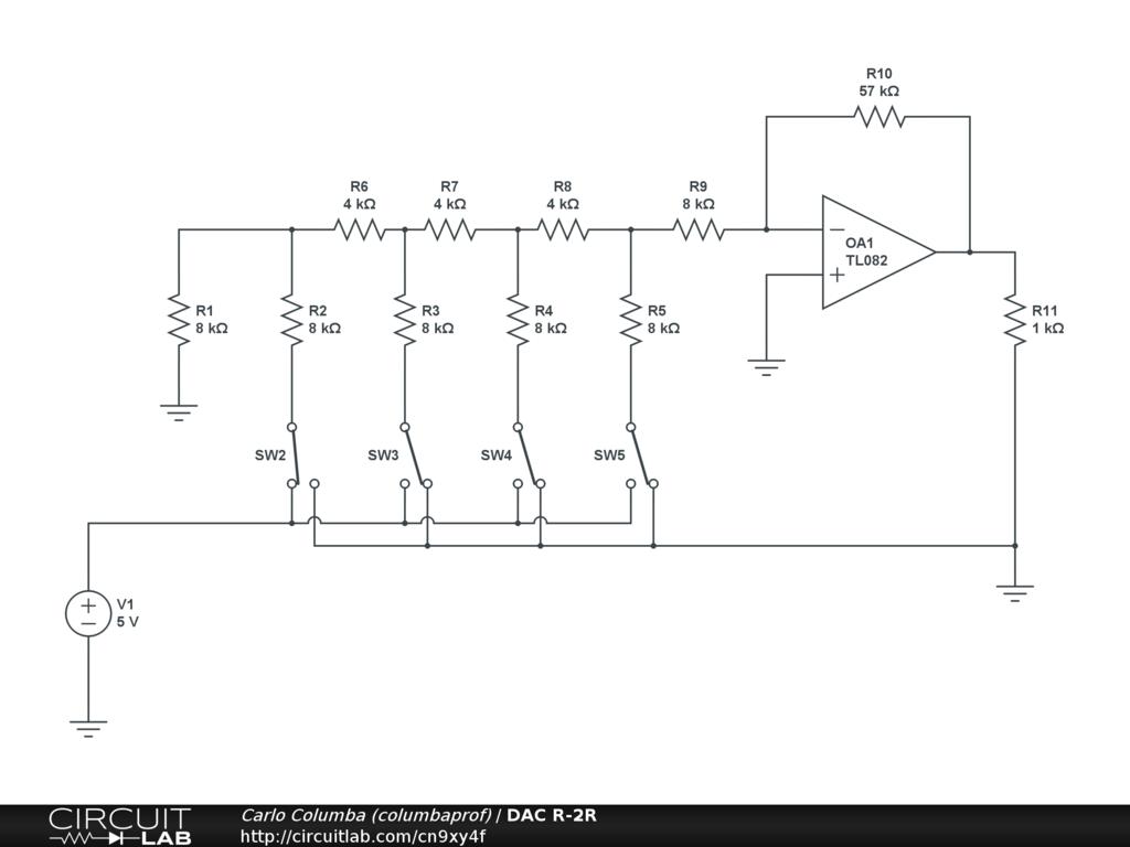 hight resolution of r 2r ladder circuit diagram wiring diagram hub molding machine diagram r 2r ladder circuit diagram