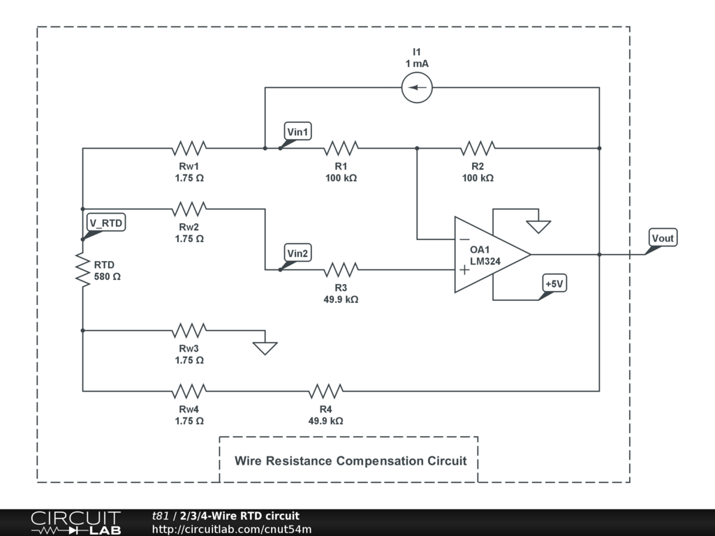 hight resolution of  2 3 4 wire rtd circuit circuitlab 4 wire rtd wiring diagram at cita asia