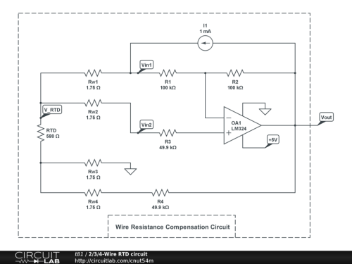 small resolution of  2 3 4 wire rtd circuit circuitlab 4 wire rtd wiring diagram at cita asia