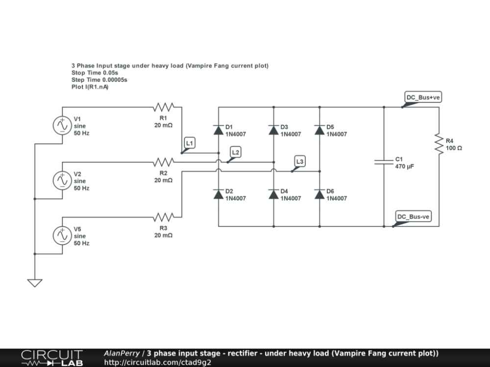 medium resolution of 3 phase power input stage heavy load