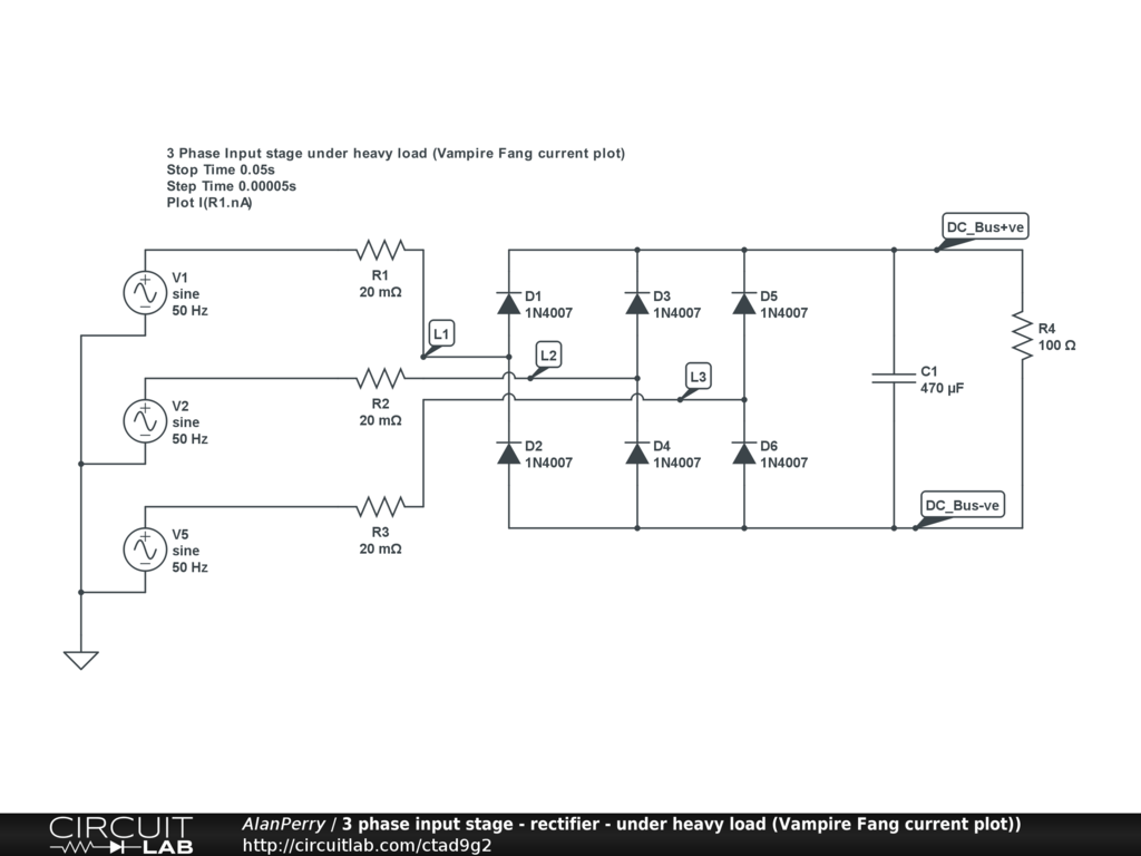 hight resolution of 3 phase power input stage heavy load