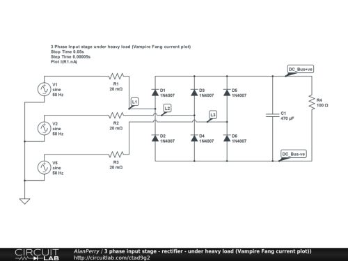small resolution of 3 phase power input stage heavy load